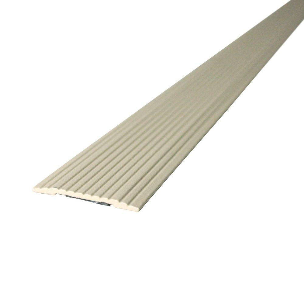 M-D Building Products Cinch 1.25 in. x 36 in. Beige Fluted Seam Cover Transition Strip