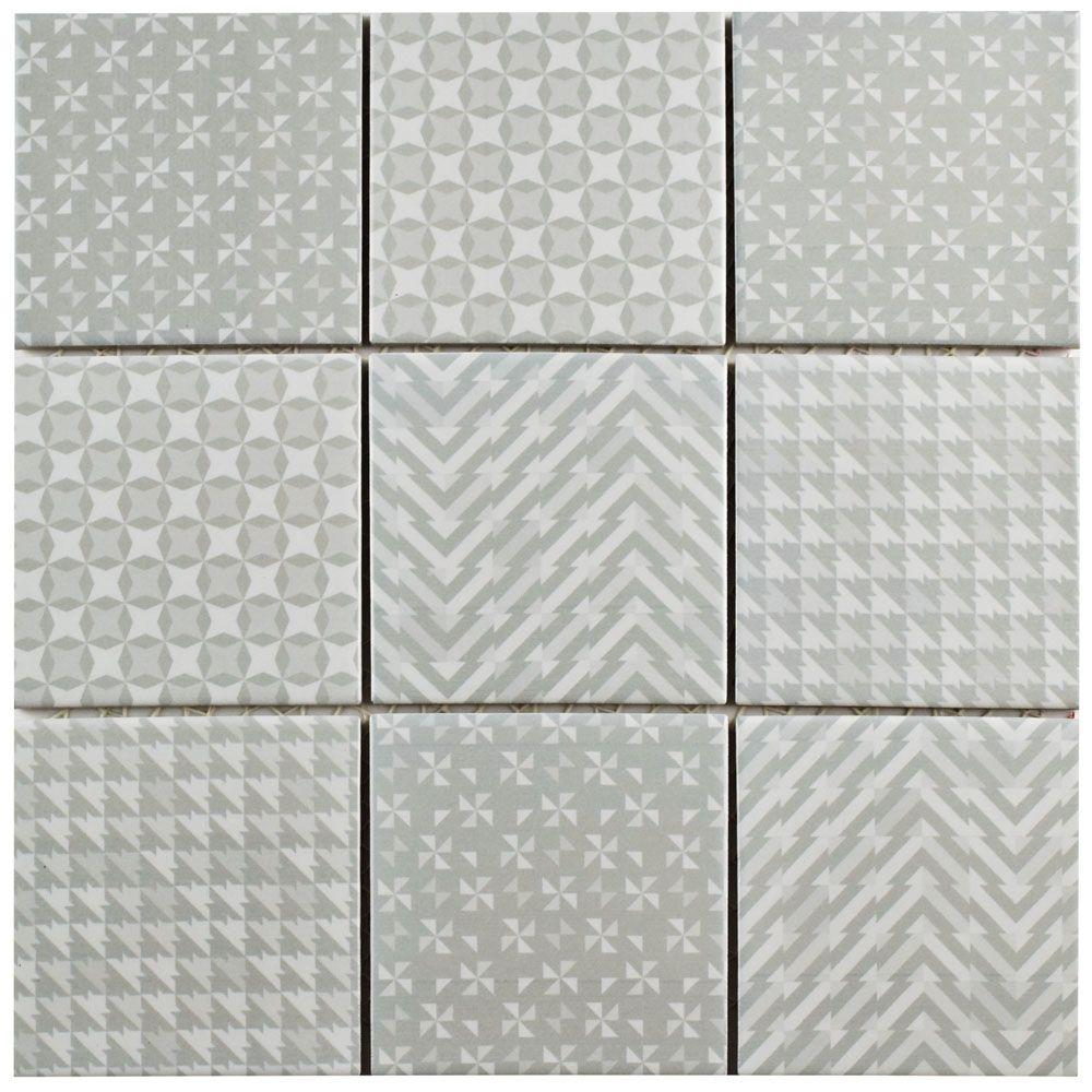 Geobright Grey 11-5/8 in. x 11-5/8 in. x 6 mm Porcelain