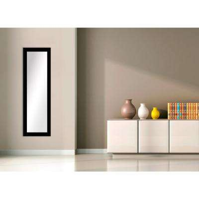 51.5 in. x 15.5 in. Black Framed Mirror