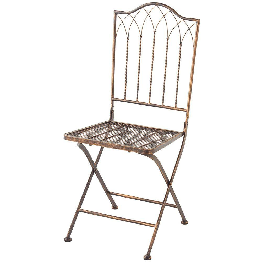 Filament Design Sundry Antique Bronze Metal Folding Patio Chair