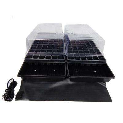 11 in. x 22 in. Short Clear Plastic Dome Dual Tray Kit