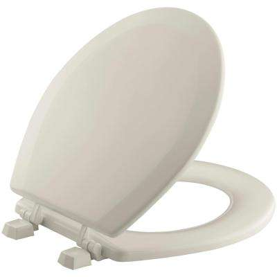Triko Round Closed Front Toilet Seat in Sandbar