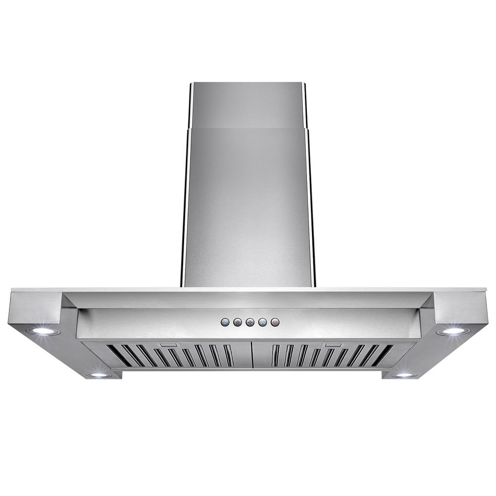 Akdy in convertible stainless steel island mount range