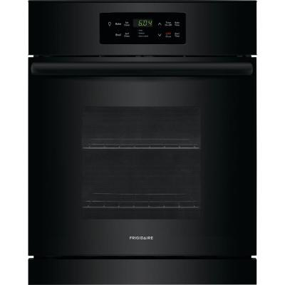 Ge 24 In Single Electric Wall Oven Black Jrs06bjbb The Home Depot