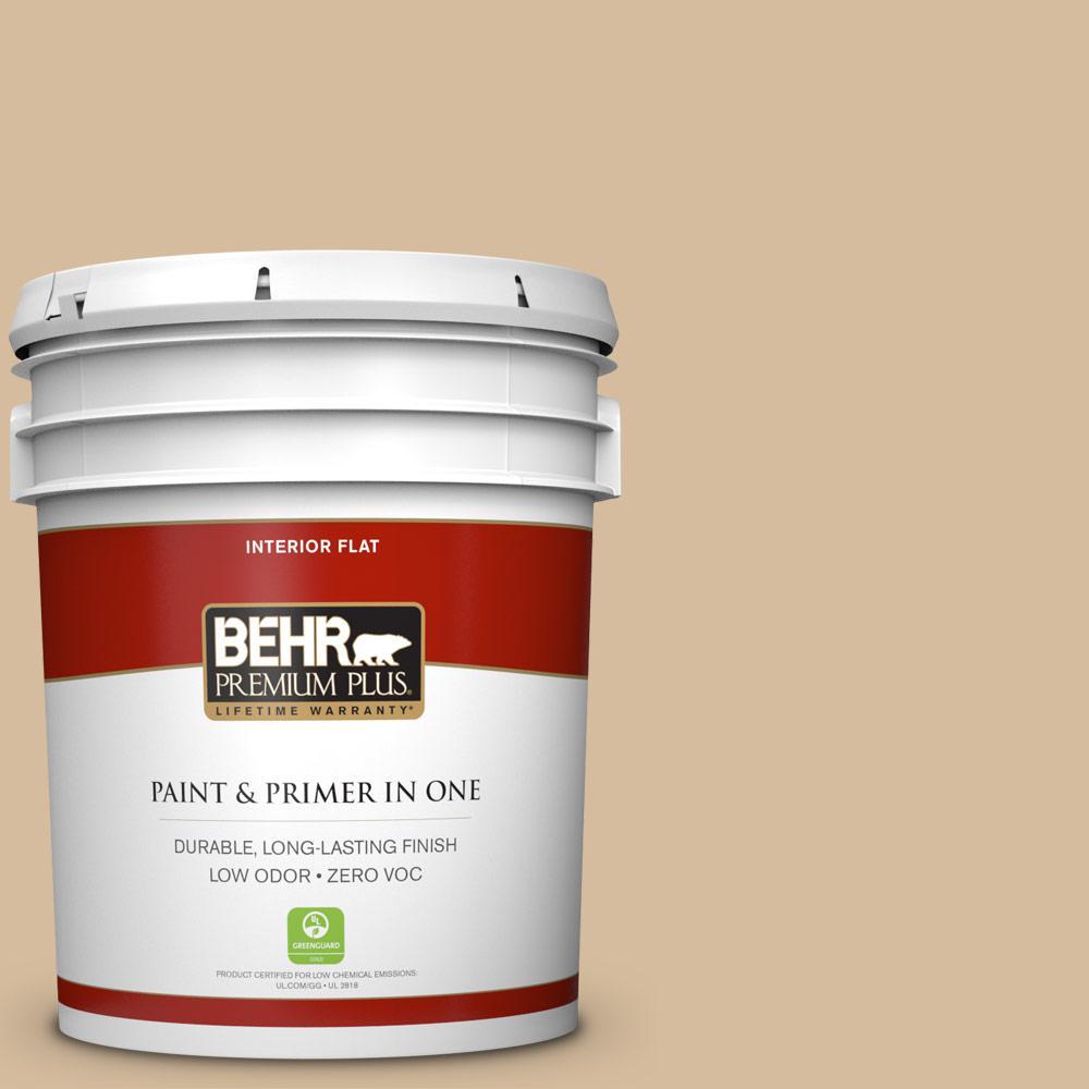 BEHR Premium Plus 5 Gal. #T18 06 Kombucha Zero VOC Flat Interior Paint