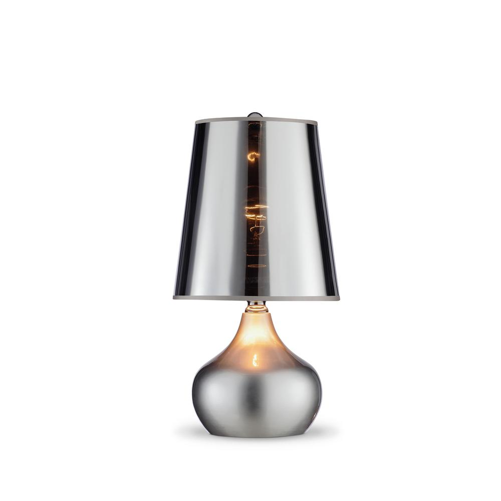 18 in luster metallic silver table lamp k 818sr the home depot luster metallic silver table lamp aloadofball Image collections