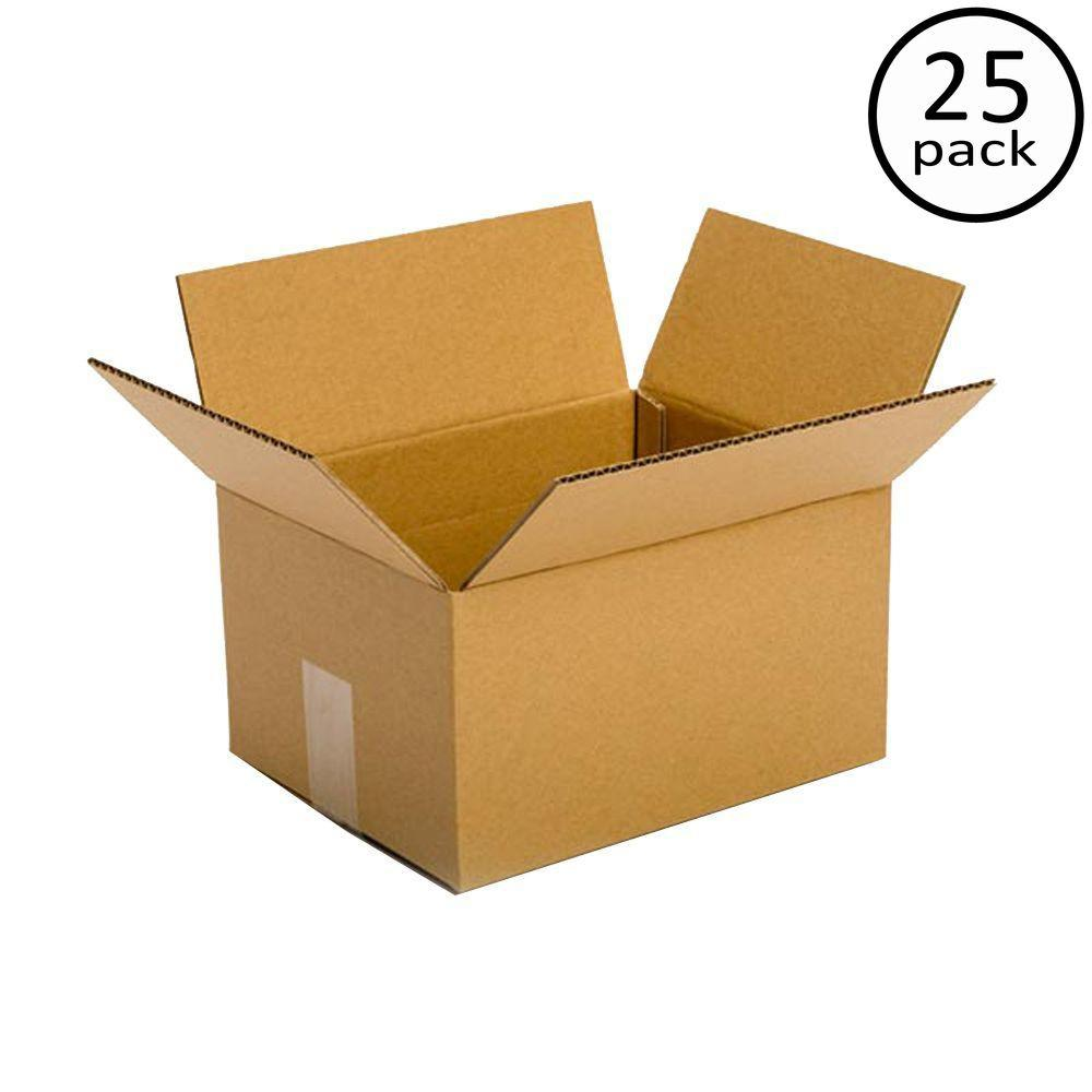 Plain Brown Box 10 in. x 8 in. x 6 in. 25 Moving Box Bundle