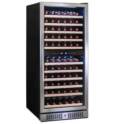 23.5 in. 116-Bottle Built-in Compressor Wine Cooler