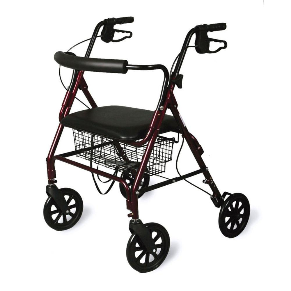 Medline Bariatric Rollator with Curved Backrest