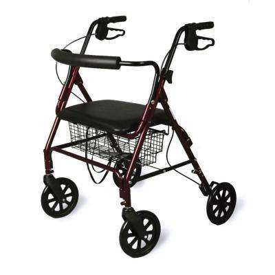 Bariatric Rollator with Curved Backrest