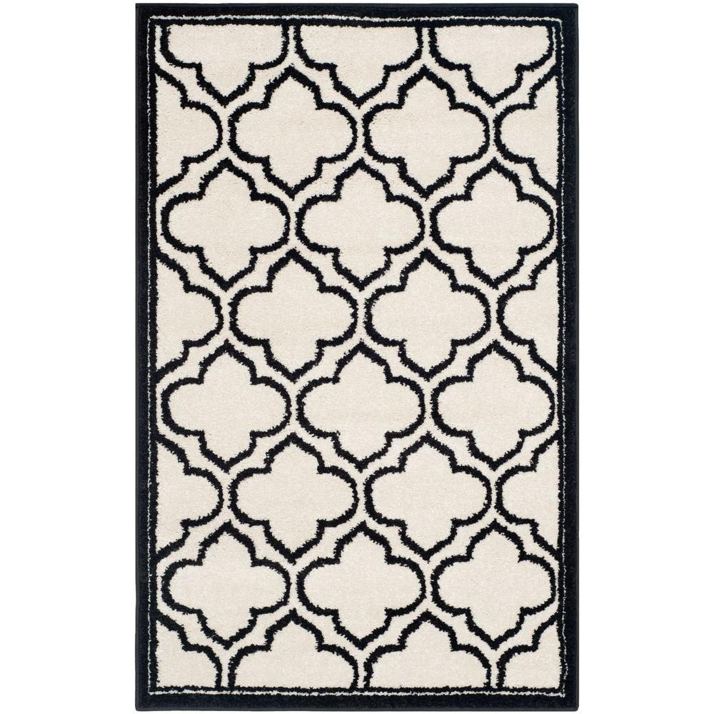 Amherst Ivory/Anthracite 2 ft. 6 in. x 4 ft. Indoor/Outdoor Area