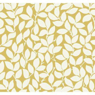 York Wallcoverings Non Pasted Yellow Wallpaper Home Decor