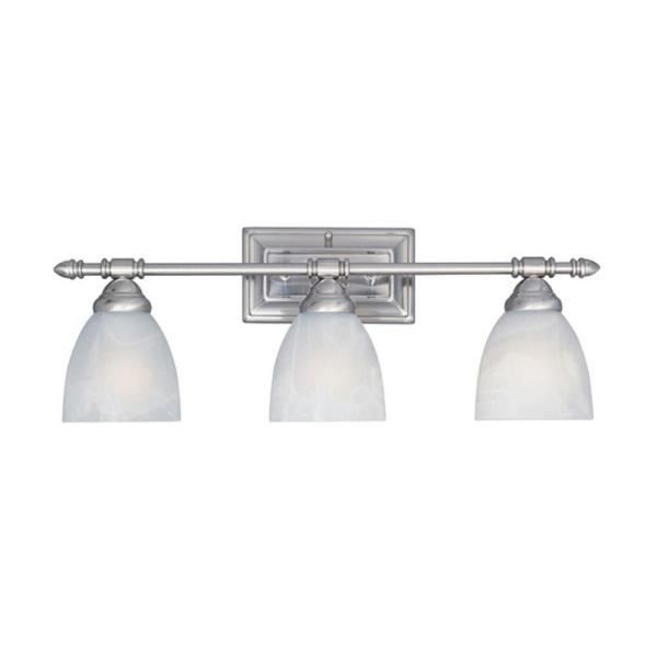 Apollo Collection 3-Light Satin Platinum Wall Mount Vanity Light