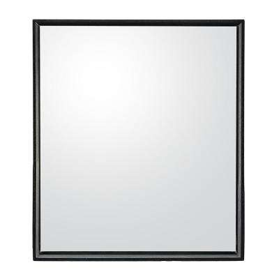 Beckwith Park 28 in. x 32 in. Framed Wall Mirror in Matte Black