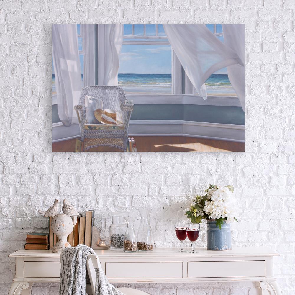 Pinnacle Gentle Reader Coastal Canvas Wall Art