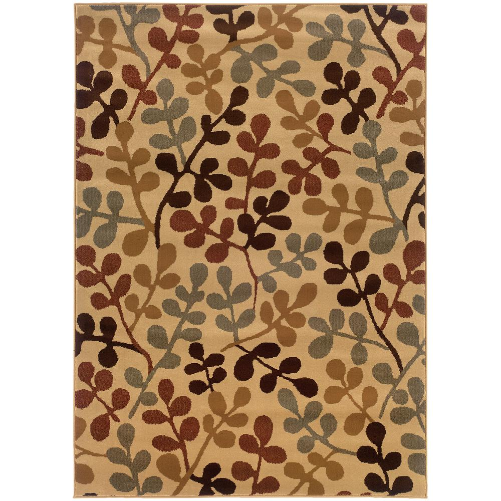 Shade Beige/Multi 5 ft. x 7 ft. 6 in. Area Rug