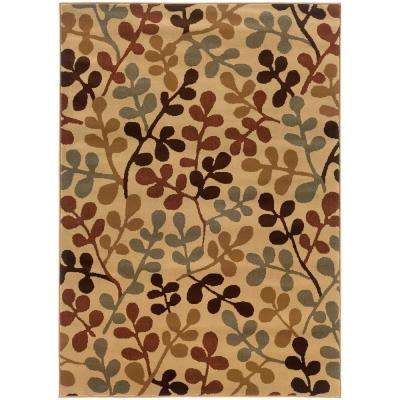 Shade Beige/Multi 3 ft. x 6 ft. Area Rug