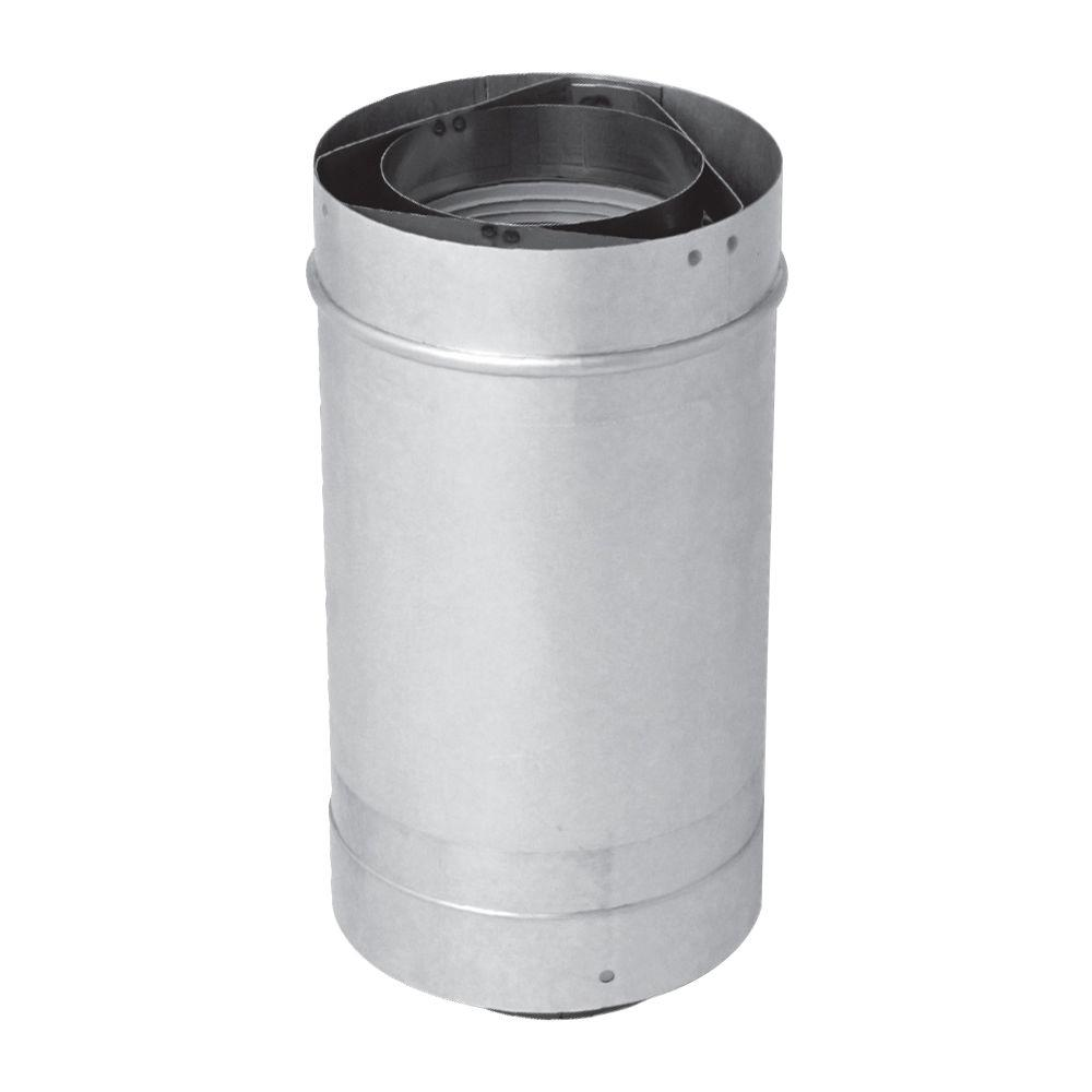 rheem adjustable in vent length 3 x 5 in stainless steel concentric vent for rheem indoor tankless gas water the home depot
