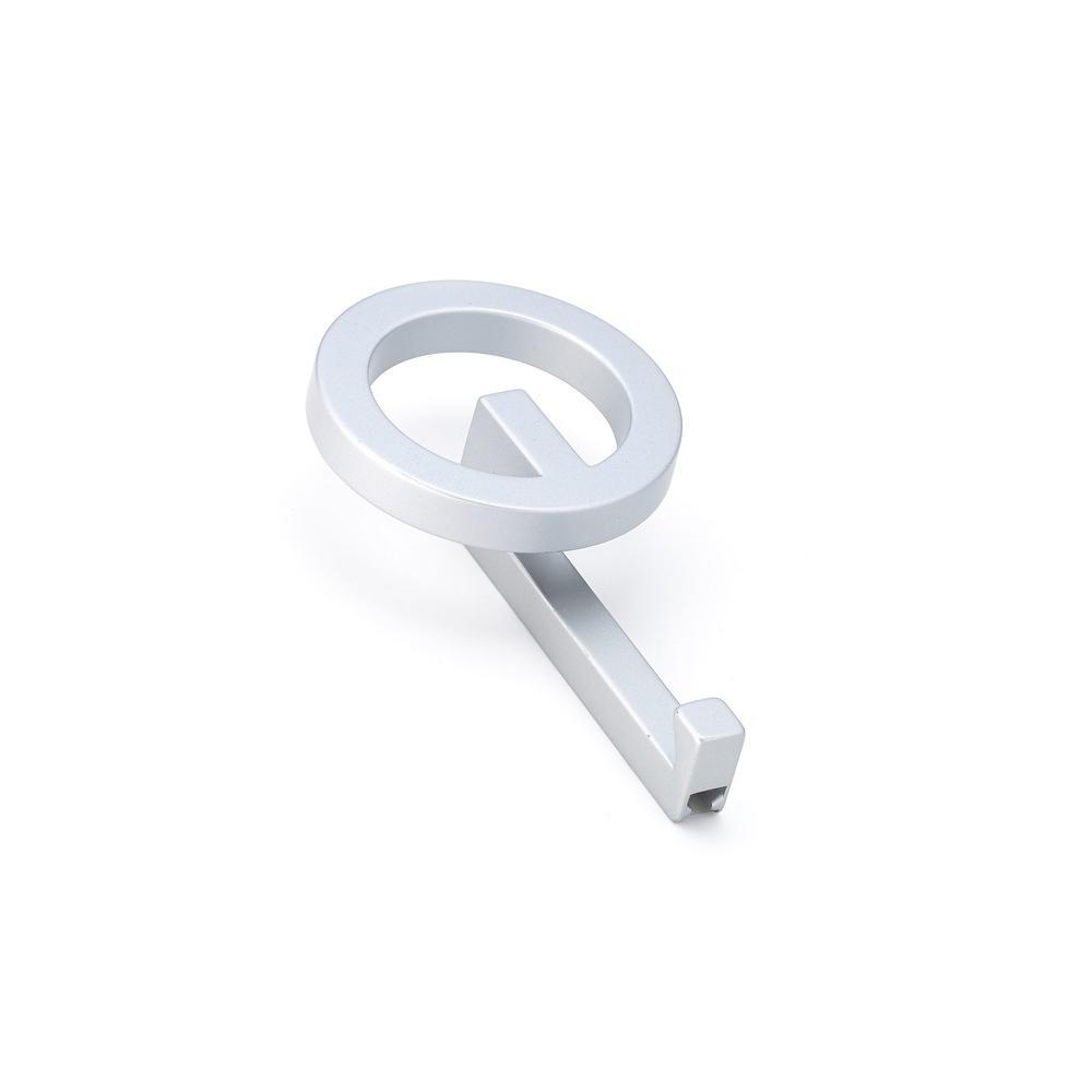 6-7/8 in. (175 mm) Matte Chrome Decorative Hook