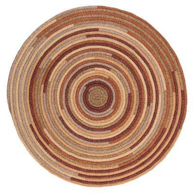 Riley Rustic Blend 8 ft. x 8 ft. Braided Round Area Rug