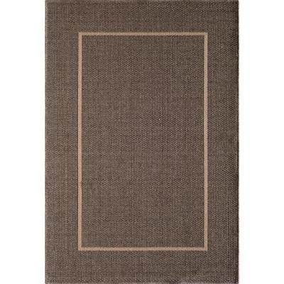 Santorini Long Floats Pebble/Natural 8 ft. x 10 ft. Indoor/Outdoor Area Rug