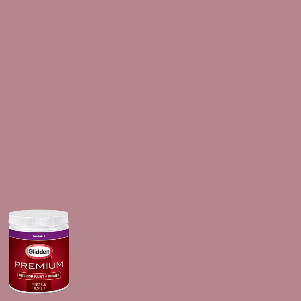 Glidden Premium 8 Oz Hdgr25u Vintage Rouge Red Eggshell Interior Paint Sample With Primer