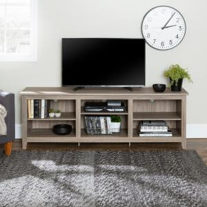 70 in. Rustic Wood TV Stand in Driftwood