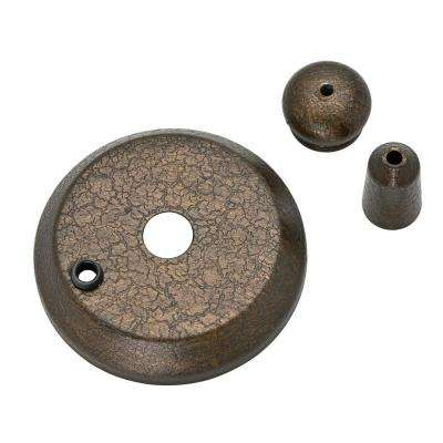 Provence Crackle Bronze Cap and Finial Pack