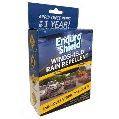 Windshield Rain Repellent with Glass Polish, Application Cloth and Microfiber Cloth