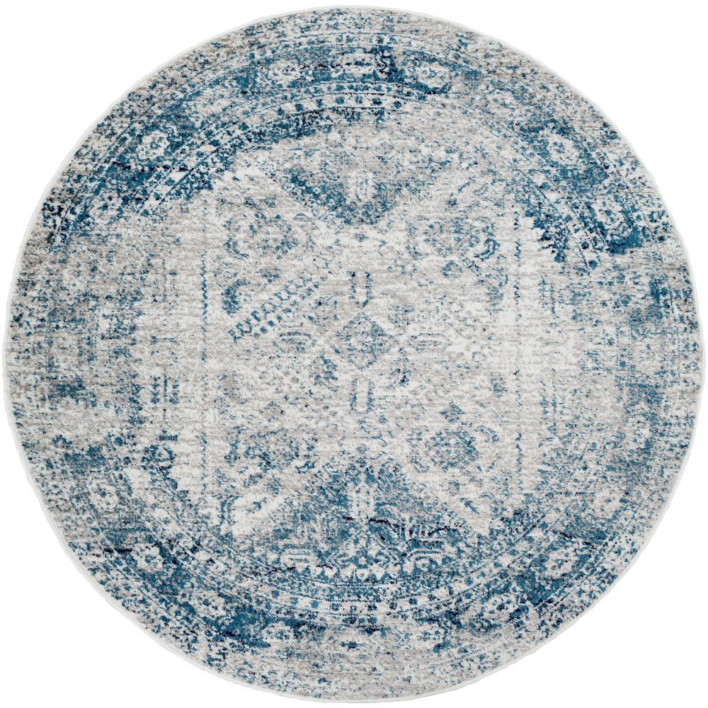 Artistic Weavers Havana Blue 5 ft. 3 in. Round Area Rug, Sky Blue was $115.0 now $74.8 (35.0% off)