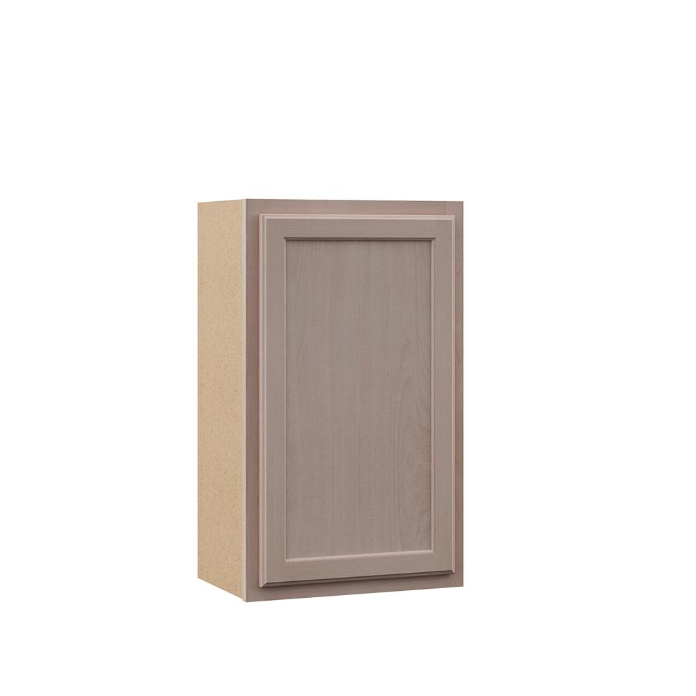 Hampton Bay Hampton Assembled 18x30x12 in. Wall Kitchen Cabinet in  Unfinished Beech