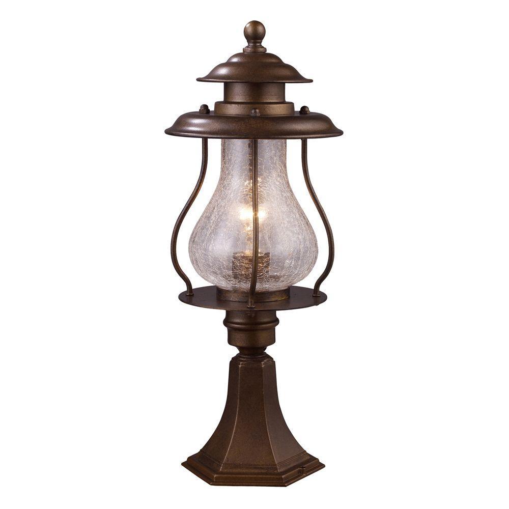 Wikshire 1-Light Outdoor Coffee Bronze Pier Mount Light