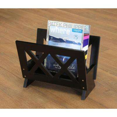 Home Craft Black Contemporary Magazine Rack