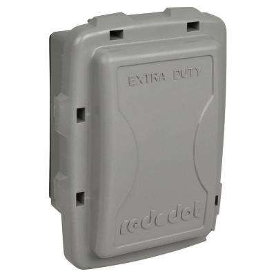 1-Gang Extra Duty Non-Metallic While-In-Use Weatherproof Horizontal/Vertical Receptacle Cover - Gray (Case of 7)