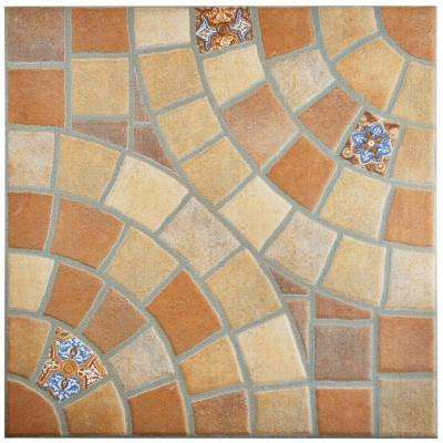 13x13 Multi Color Floor Ceramic Tile Tile The Home Depot