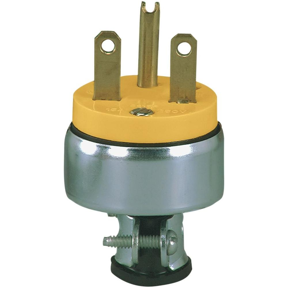 15 Amp 250-Volt 6-15 Heavy Duty Grade Armored Plug