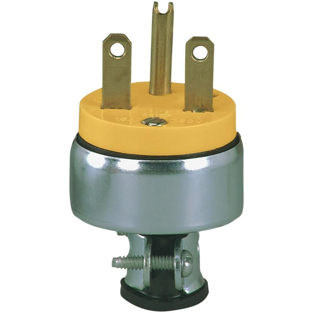 15 Amp 250-Volt 6-15 Heavy Duty Grade Armored Plug
