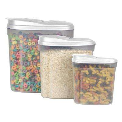 3-Piece Plastic Cereal Container Set