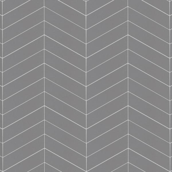 Metro Soho Chevron Matte 7 in. x 1-3/4 in. Grey Porcelain Floor and Wall Tile (1 sq. ft. / pack)