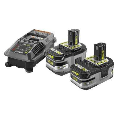 18-Volt ONE+ Lithium-Ion Lithium+ HP 6.0 Ah Starter Kit with ONE+ Lithium-Ion LITHIUM+ HP 3.0 Ah High Capacity Battery
