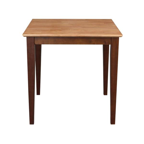 International Concepts Cinnamon and Espresso Solid Wood Dining Table K58-3030-30S