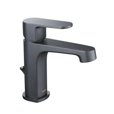 Devon Single Hole 1-Handle 1.2 GPM CALGreen Bathroom Faucet in Matte Black