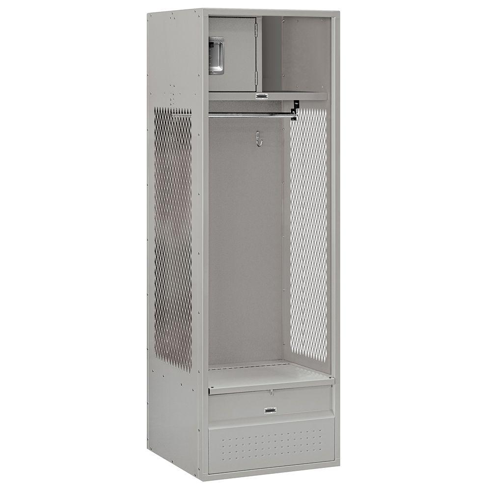 Salsbury Industries 70000 Series 24 in. W x 78 in. H x 24 in. D - Open Access Metal Locker Unassembled in Gray