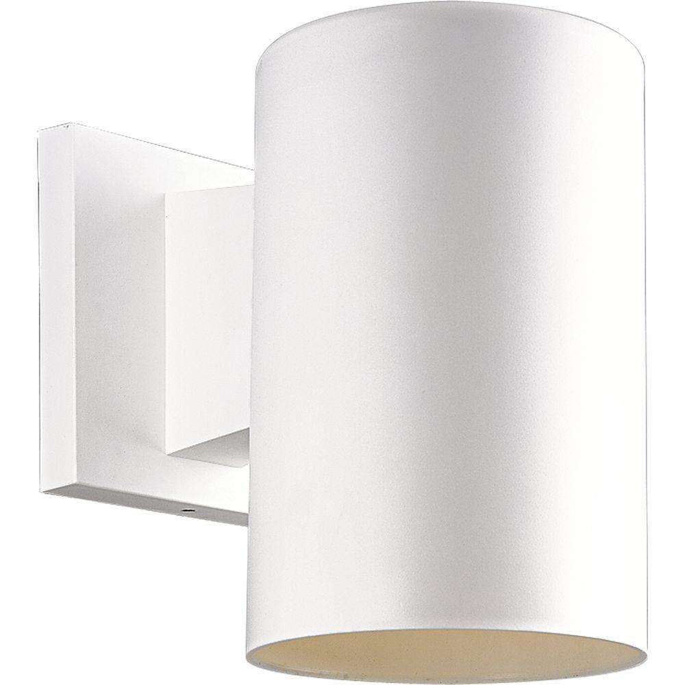 Progress Lighting 1-Light Outdoor White Wall Lantern