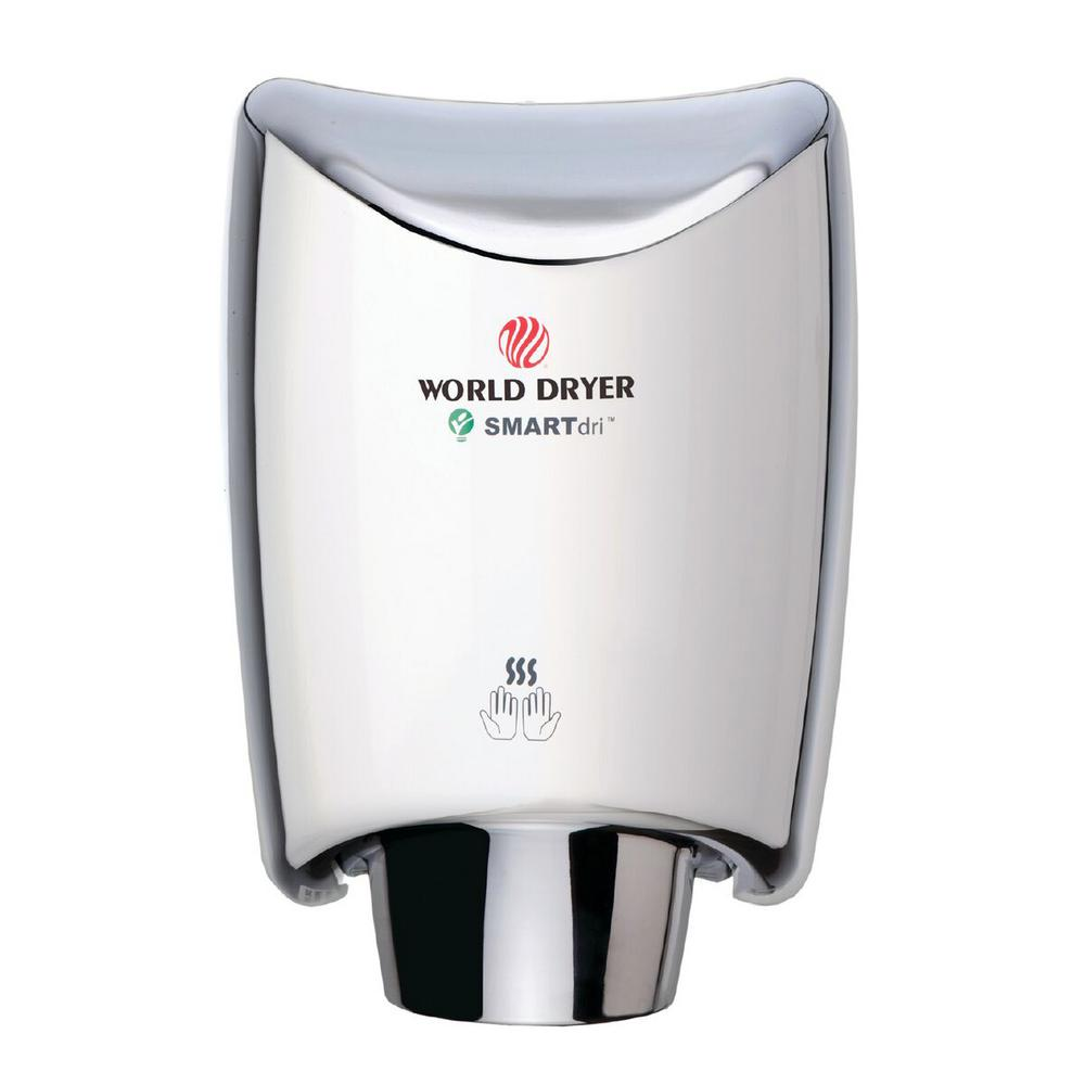 World Dryer SMARTdri Hand Dryer in Polished Stainless Steel World Dryer SMARTdri Hand Dryer in Polished Stainless Steel