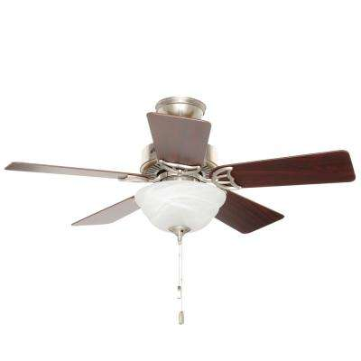 Kensington 42 in. Indoor Brushed Nickel Ceiling Fan with Light Kit
