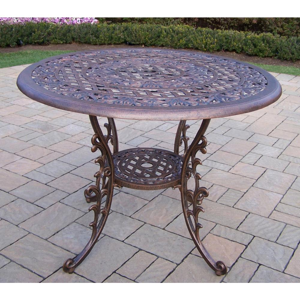Mississippi Antique Bronze 1 Piece Aluminum Outdoor Dining Table