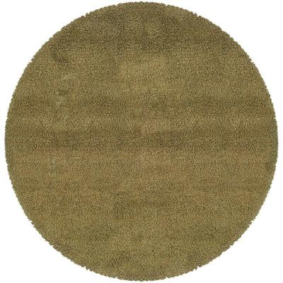 Urban Loft Olive 6 ft. x 6 ft. Round Area Rug