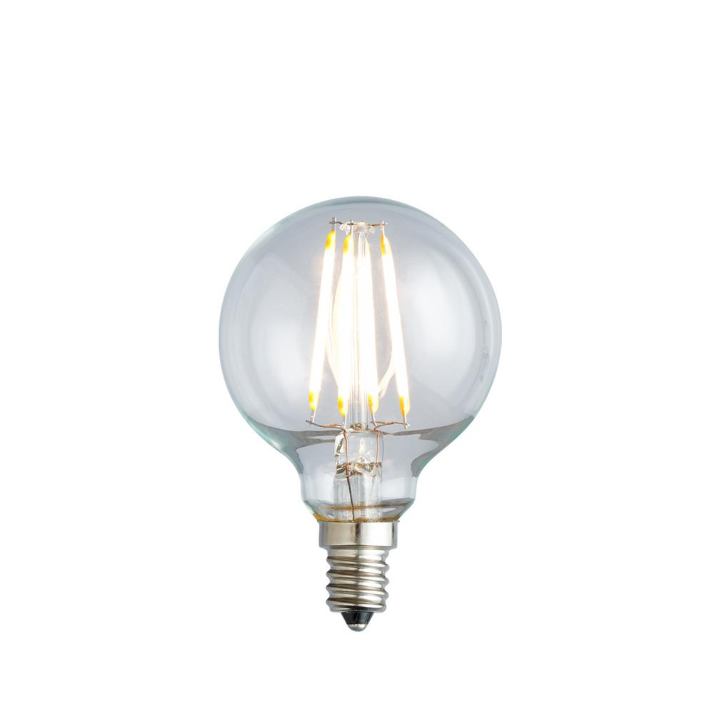 Newhouse Lighting 40w Equivalent Incandescent G25 Dimmable: Sylvania 40-Watt Incandescent G25 Clear Globe Light Bulb