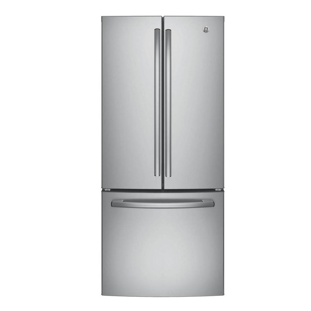 Ge 30 in w 20 8 cu ft french door refrigerator in for 6 ft wide french doors